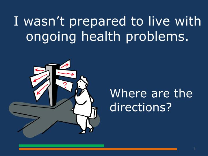 I wasn't prepared to live with ongoing health problems.