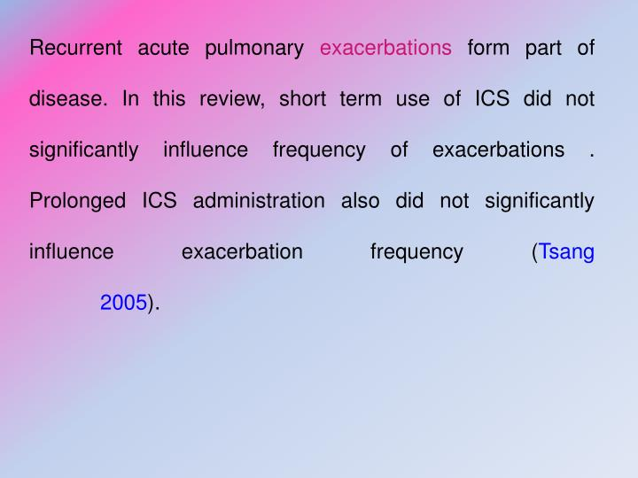 Recurrent acute pulmonary