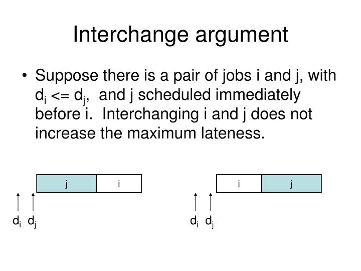 Interchange argument