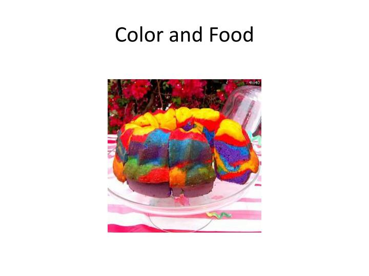 Color and Food