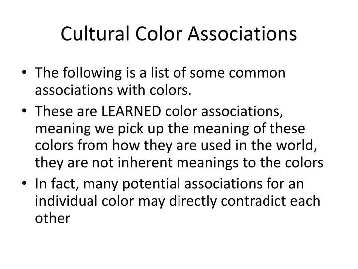 Cultural Color Associations