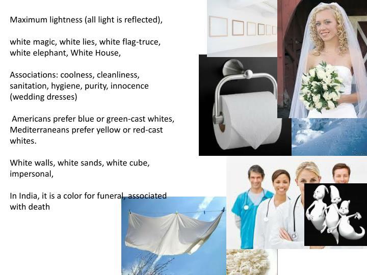 Maximum lightness (all light is reflected),