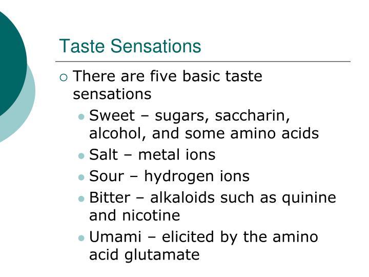 Taste Sensations