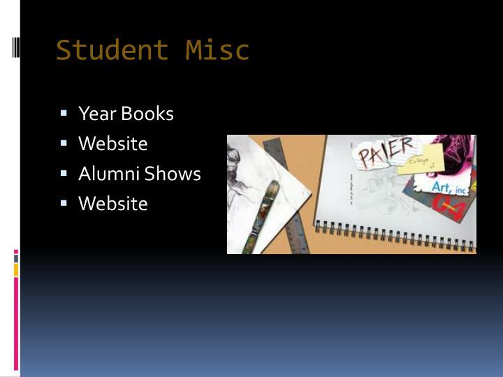 Student Misc