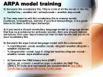 arpa model training1