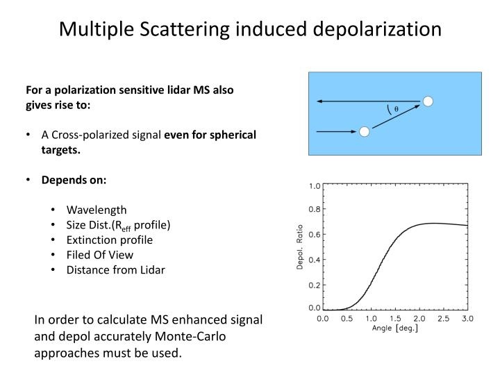 Multiple Scattering induced depolarization