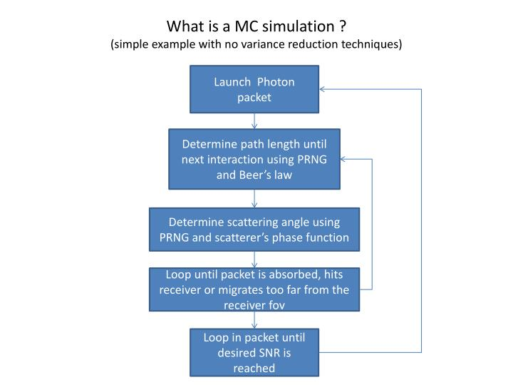 What is a MC simulation ?