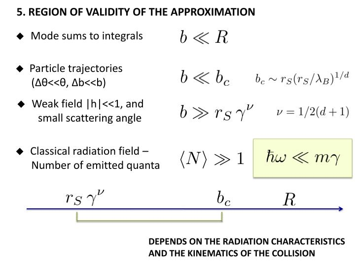 5. REGION OF VALIDITY OF