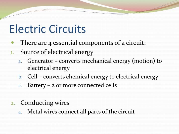 Electric circuits2