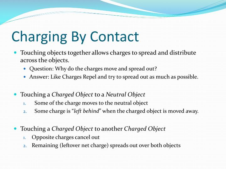 Charging By Contact
