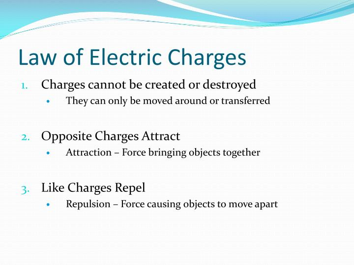 Law of electric charges1