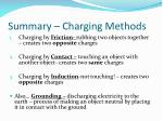 summary charging methods