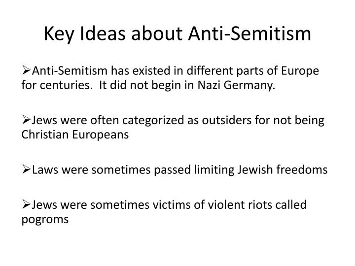 Key Ideas about Anti-Semitism