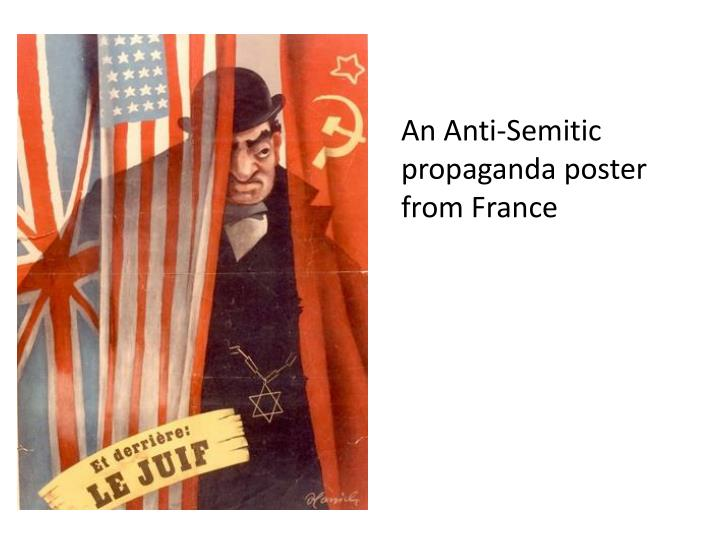 An Anti-Semitic propaganda poster from France