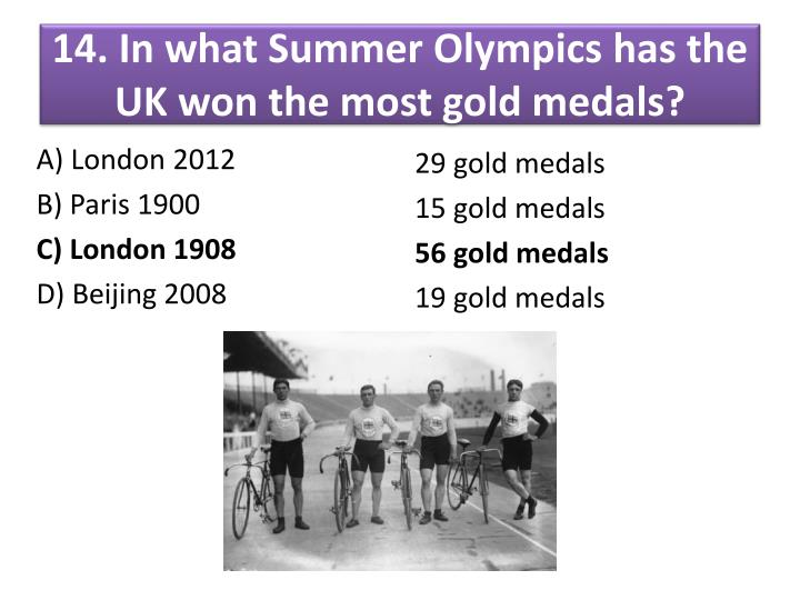 14. In what Summer Olympics
