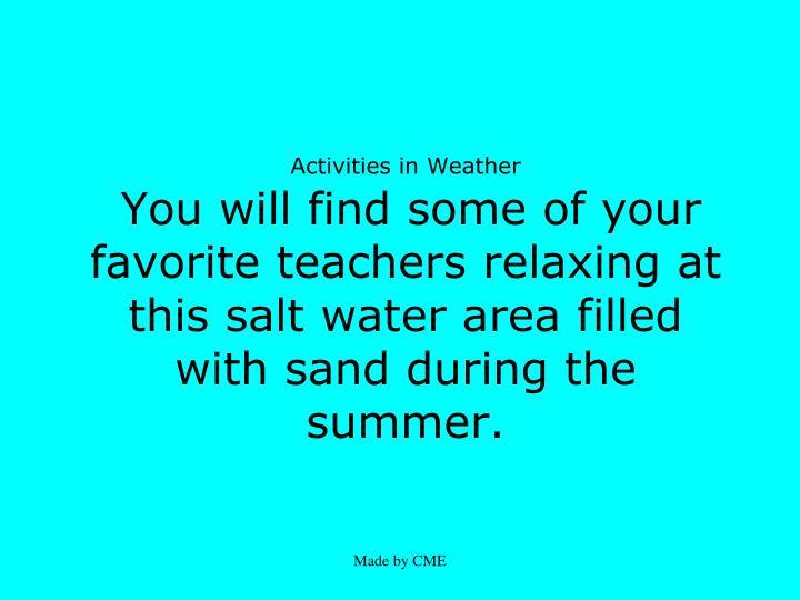 Activities in Weather