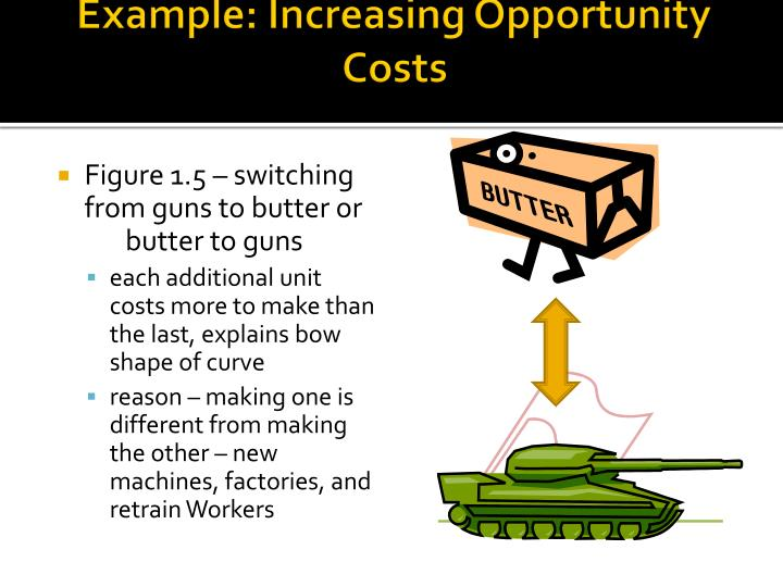 Example: Increasing Opportunity Costs