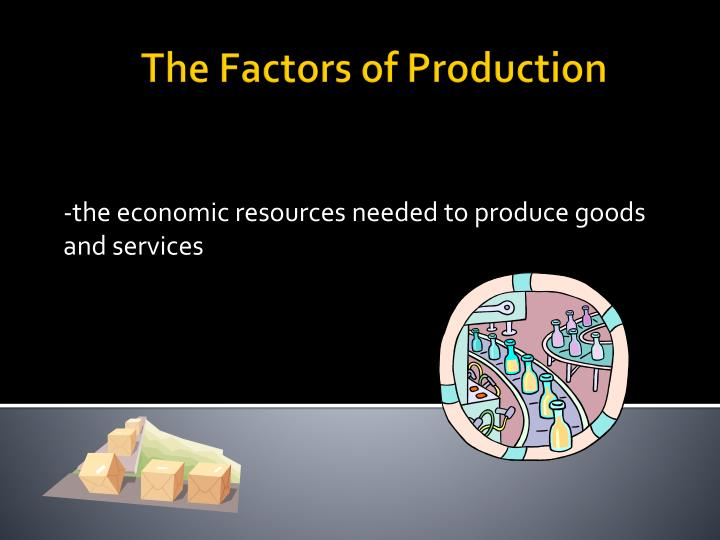 -the economic resources needed to produce goods and services