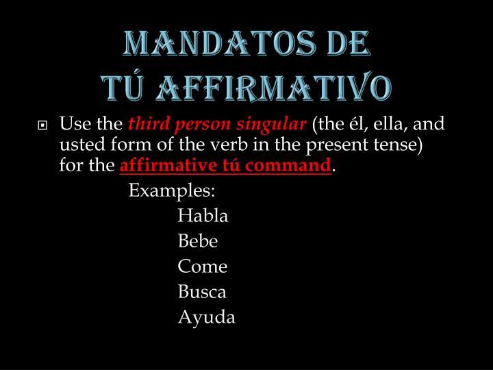 MANDATOS DE