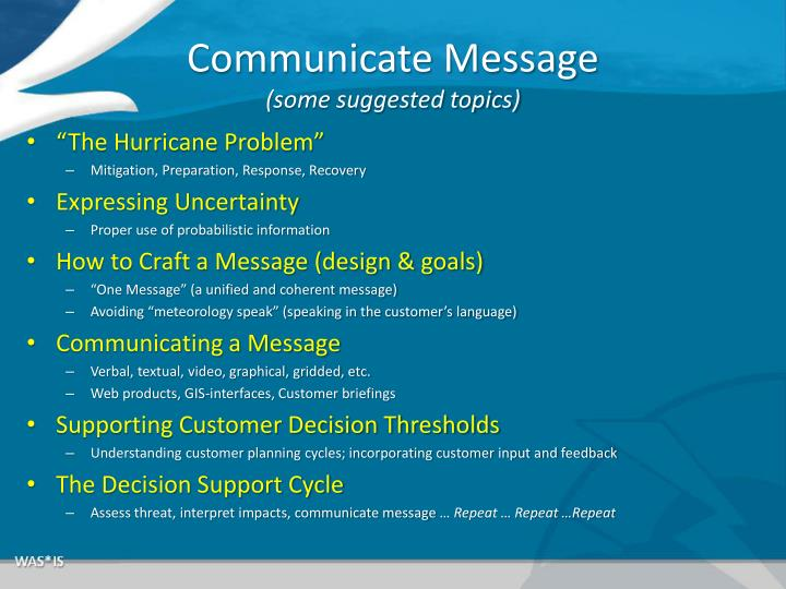 Communicate Message