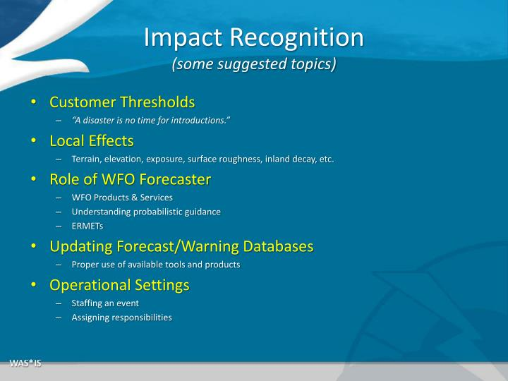 Impact Recognition