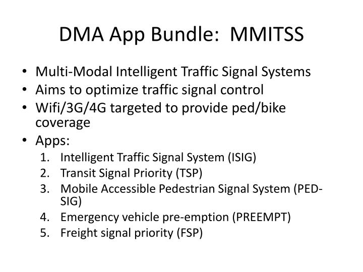 DMA App Bundle:  MMITSS