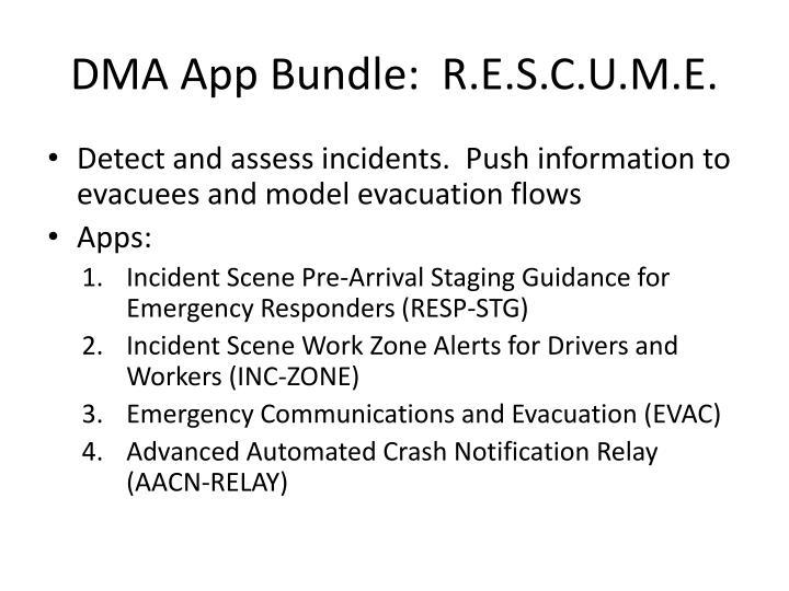 DMA App Bundle:  R.E.S.C.U.M.E.