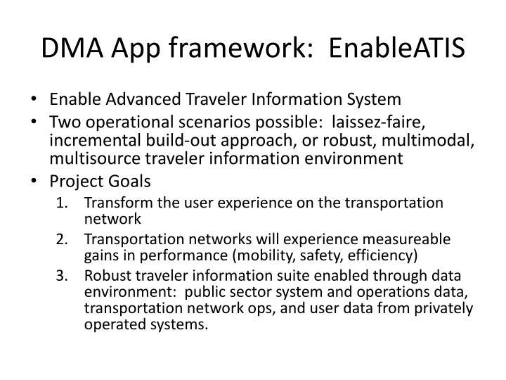 DMA App framework: