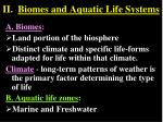 ii biomes and aquatic life systems