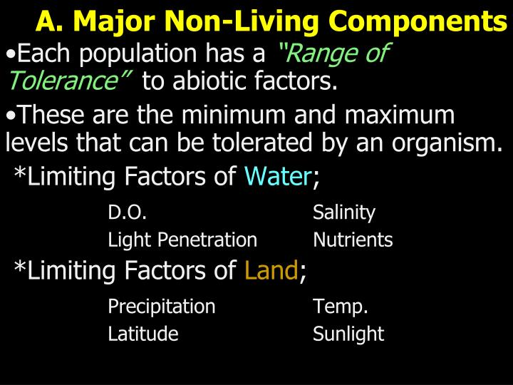 A. Major Non-Living Components