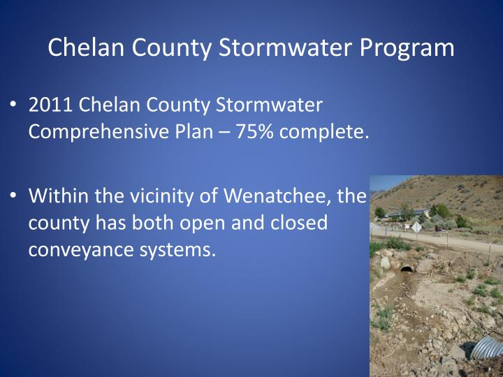 Chelan County Stormwater Program