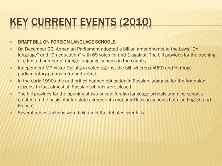 DRAFT BILL ON FOREIGN-LANGUAGE SCHOOLS