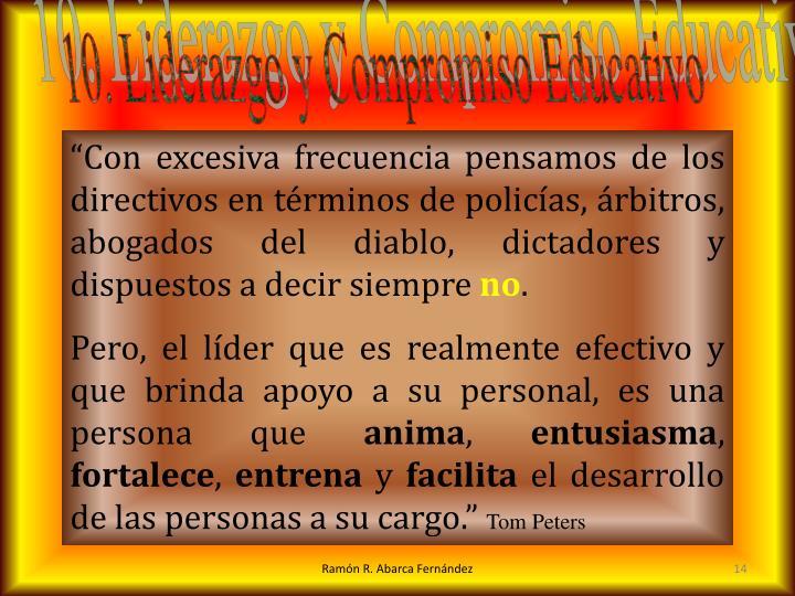 10. Liderazgo y Compromiso Educativo