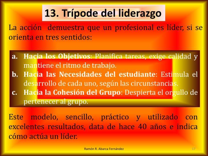 13. Trípode del liderazgo
