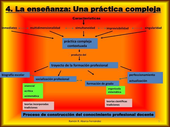 4. La enseñanza: Una práctica compleja