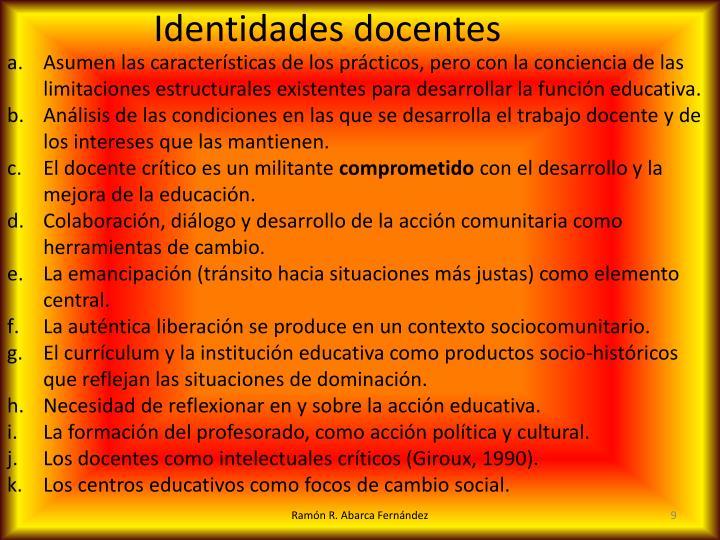 Identidades docentes