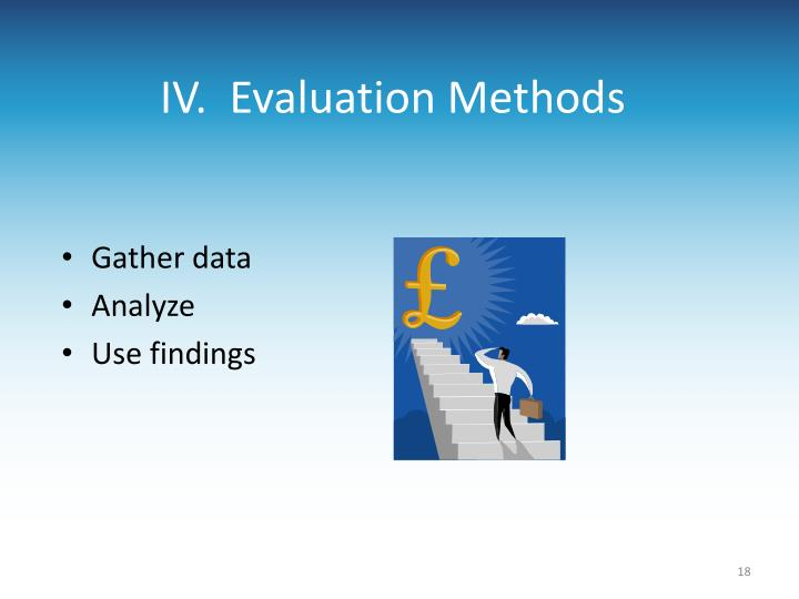 IV.  Evaluation Methods