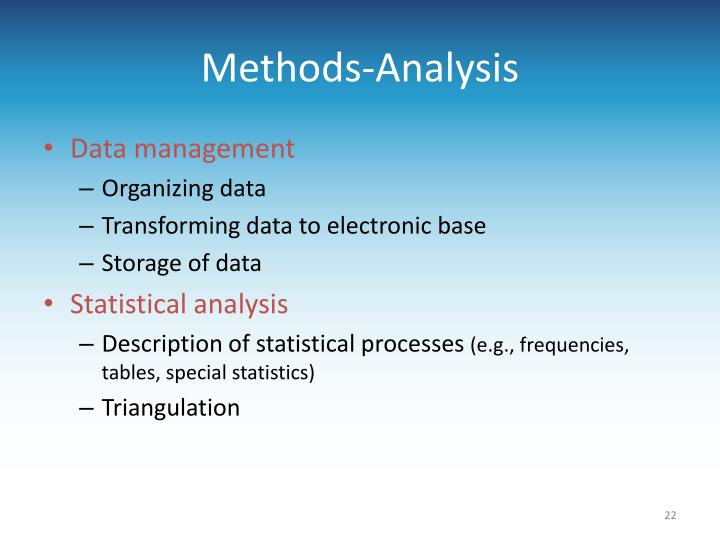 Methods-Analysis