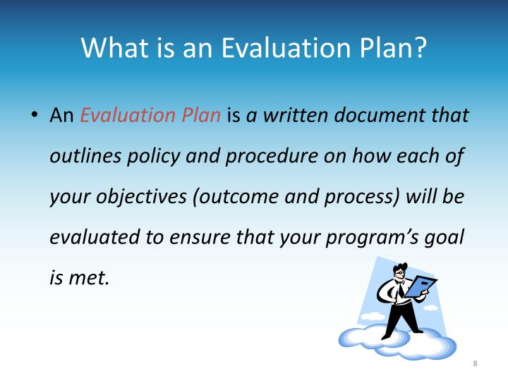 What is an Evaluation Plan?