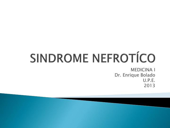 Sindrome nefrot co