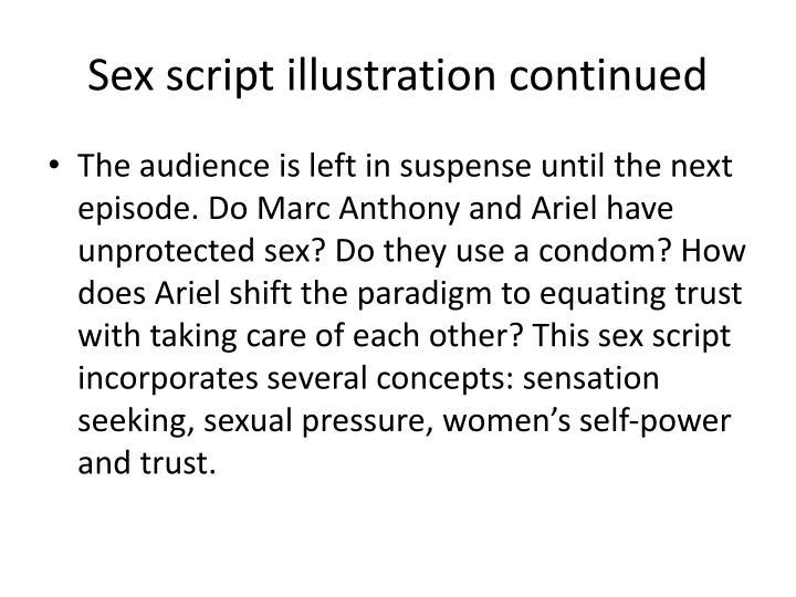 Sex script illustration continued