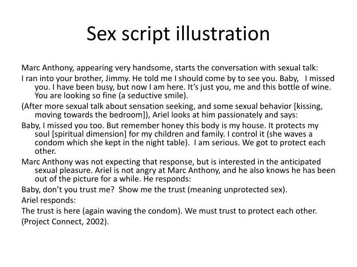 Sex script illustration