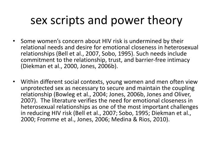 sex scripts and power theory