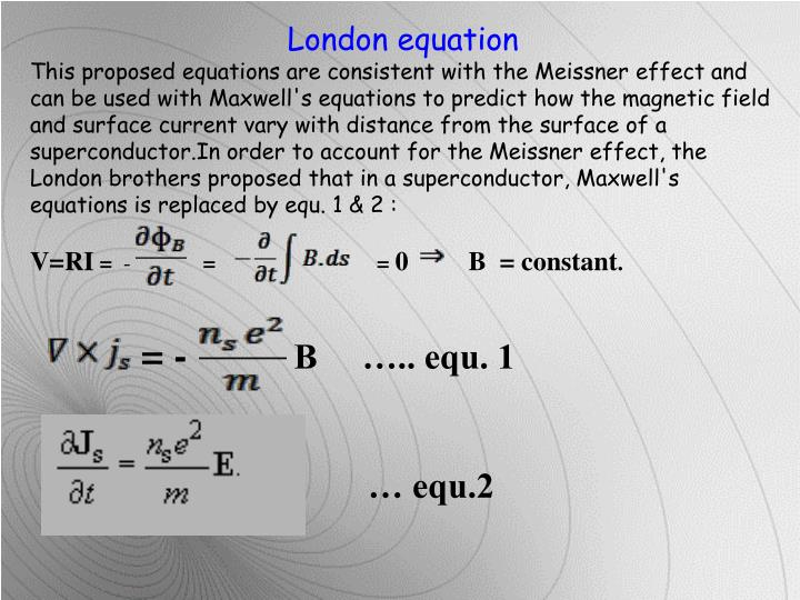 London equation