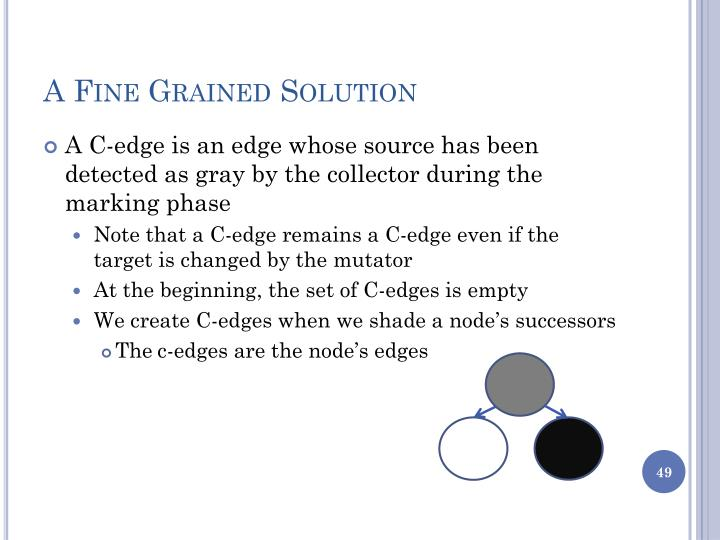 A Fine Grained Solution