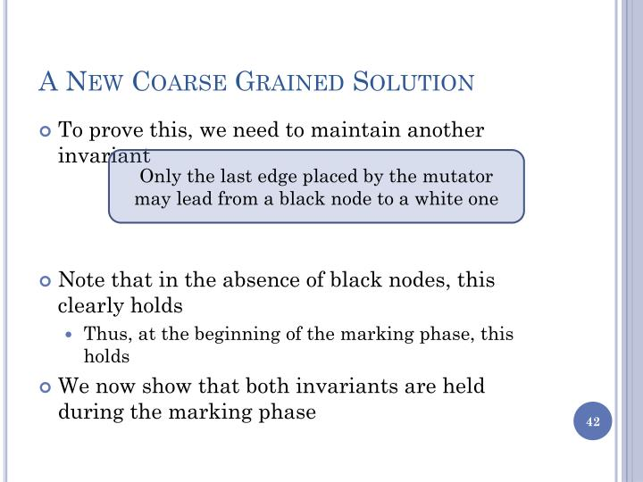 A New Coarse Grained Solution