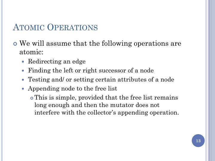 Atomic Operations