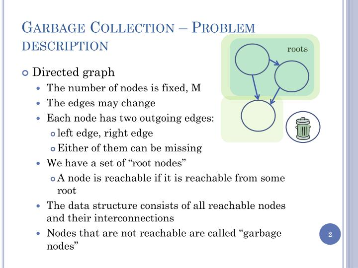 Garbage Collection – Problem description