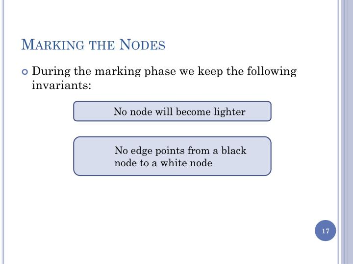Marking the Nodes