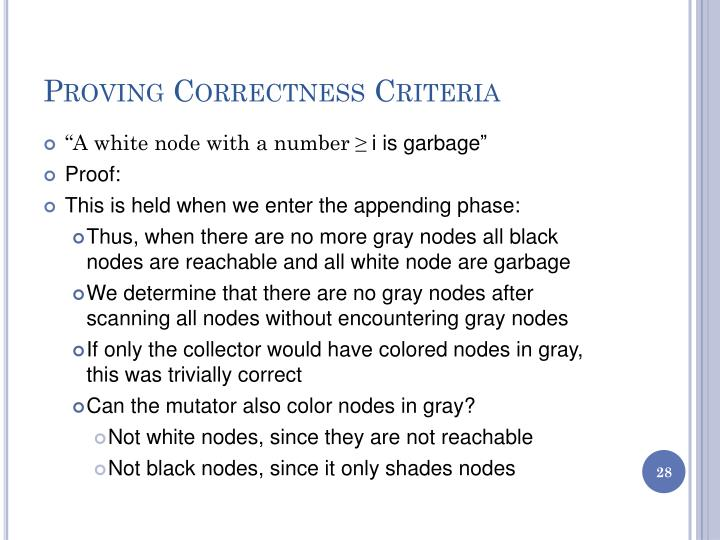 Proving Correctness Criteria